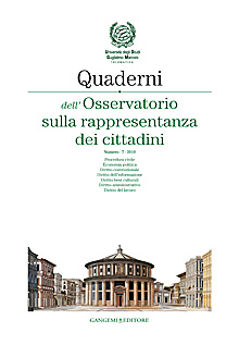 Quaderni dell'Osservatorio sulla rappresentanza dei cittadini n. 7/2010