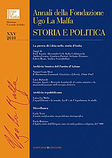 Annali della Fondazione Ugo La Malfa XXV - 2010