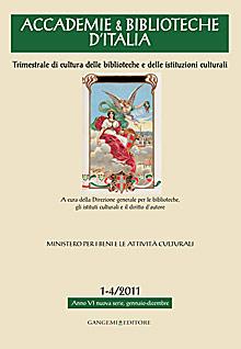 Accademie & Biblioteche d'Italia 1-4/2011