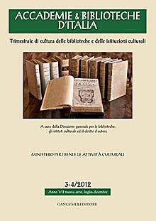 Accademie & Biblioteche d'Italia 3-4/2012