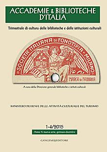 Accademie & Biblioteche d'Italia 1-4/2015