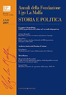 Annali della Fondazione Ugo La Malfa XXIV - 2009