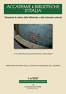 Accademie & Biblioteche d'Italia 1-4/2017