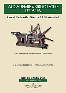 Accademie & Biblioteche d'Italia 1/2019
