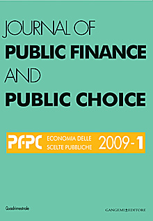 Journal of Public Finance and Public Choice n. 1/2009